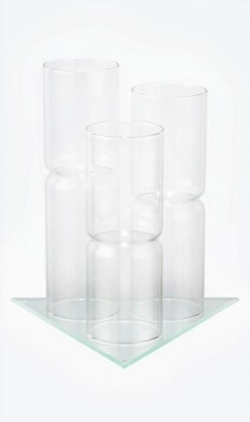 Glashalter für 3 Phiolen