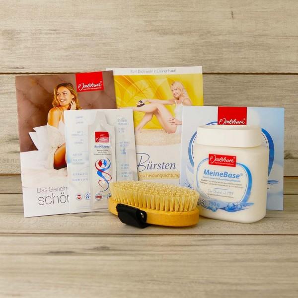 Set: Jentschura Profi-Massagebürste + MeineBase 750g